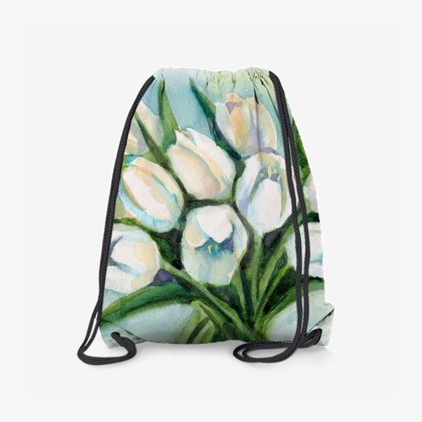 Рюкзак «Белые тюльпаны»