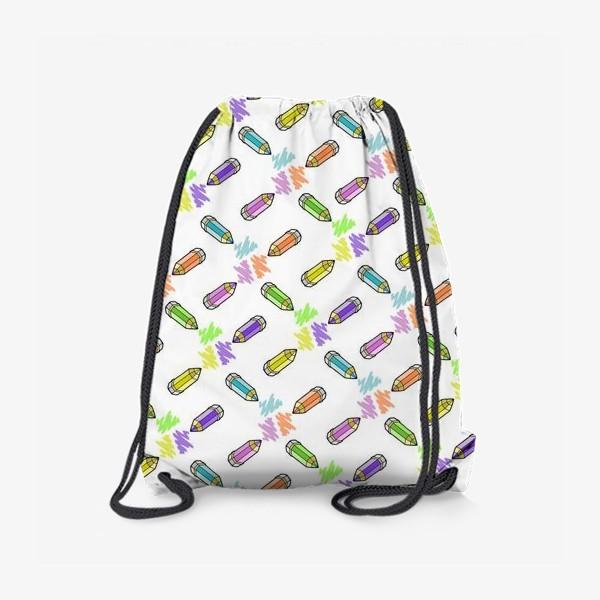 Рюкзак «Цветные карандаши (белый фон)»