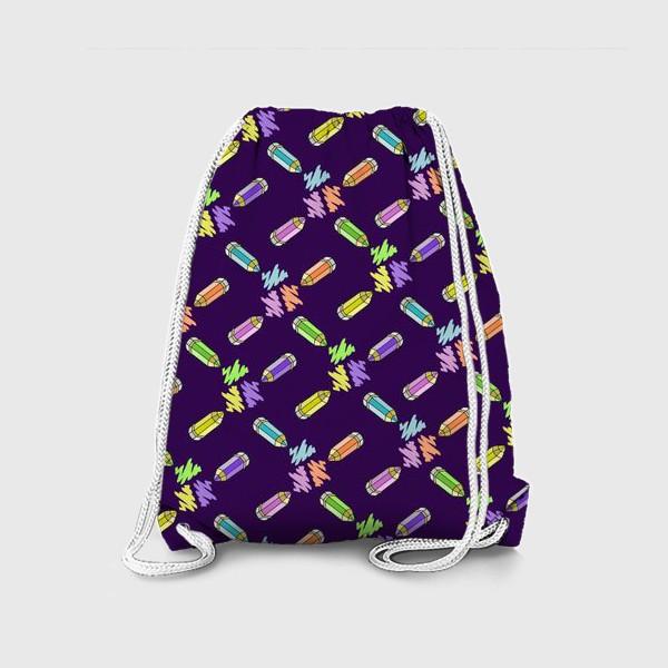 Рюкзак «Цветные карандаши (фиолетовый фон)»