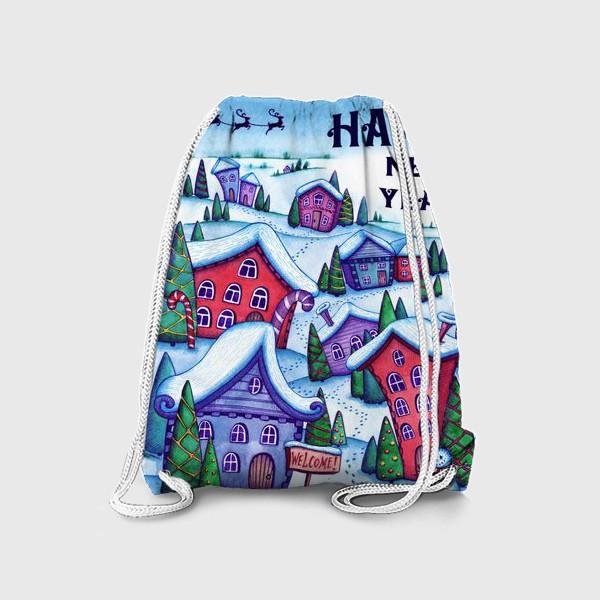 Рюкзак «Зимний город»