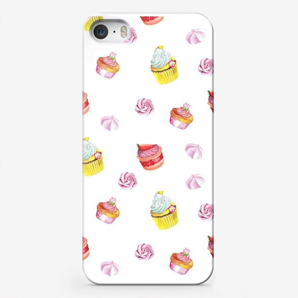 Чехол iPhone «Funny cupcake»