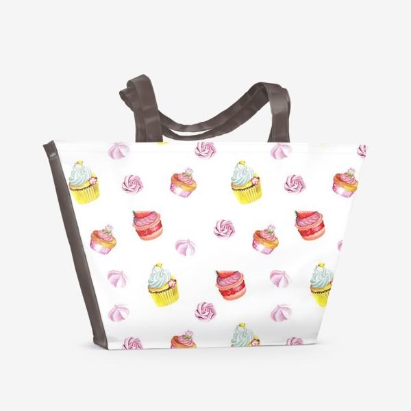 Пляжная сумка «Funny cupcake»