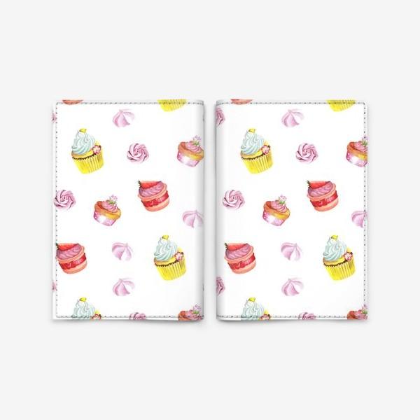 Обложка для паспорта «Funny cupcake»