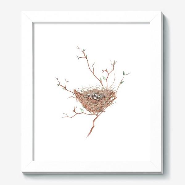 Картина «Птичье гнездо весной»