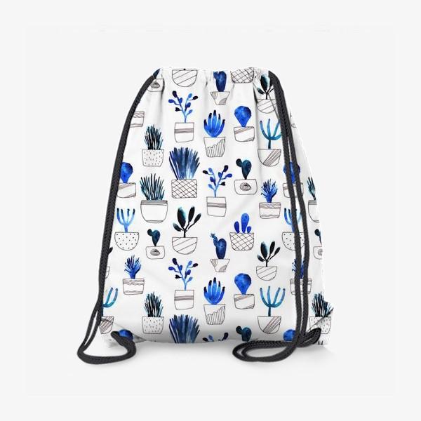 Рюкзак «Синие кактусы»