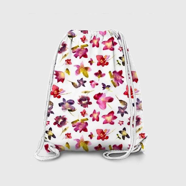 Рюкзак «Floral vibes \\ Акварельные цветы»