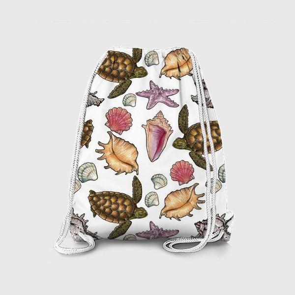 Рюкзак «Черепаха и ракушки»
