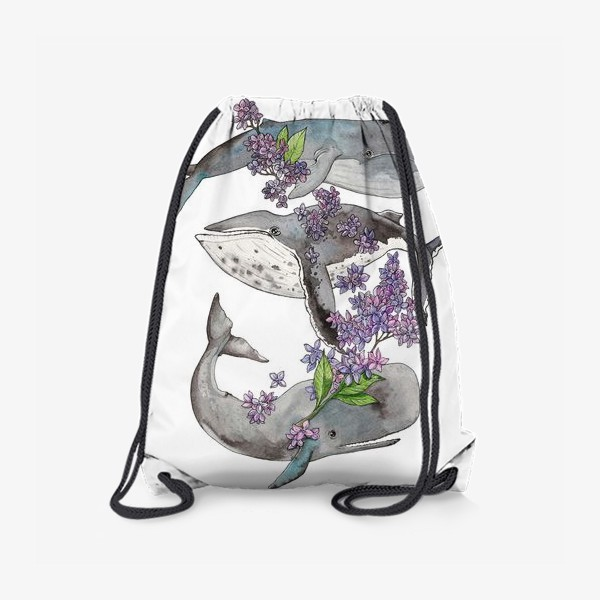 Рюкзак «Весенние киты»