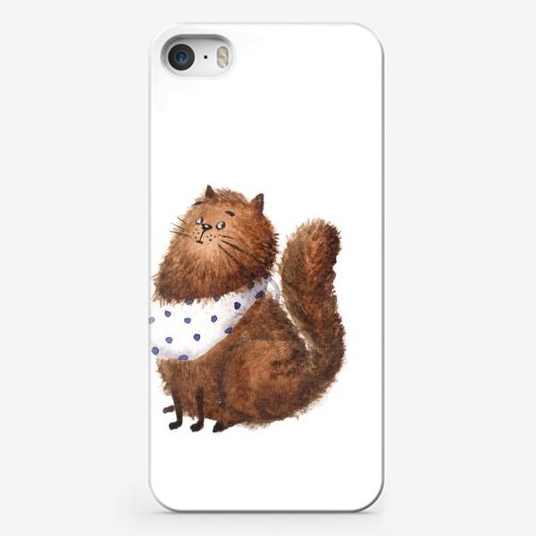 Чехол iPhone «Удивленный кот»