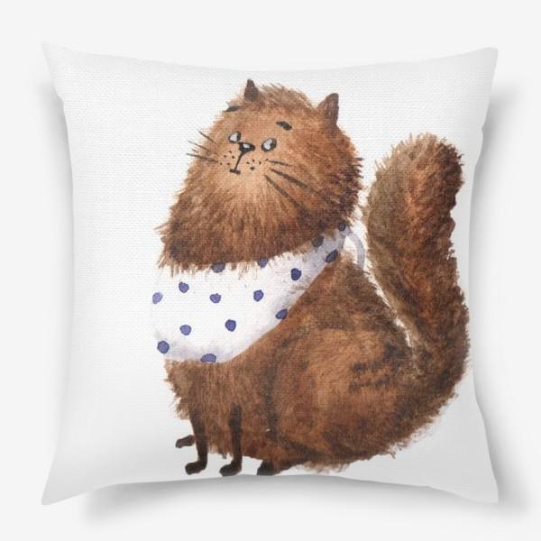 Подушка «Удивленный кот»