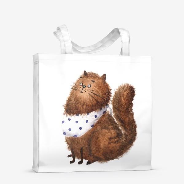 Сумка-шоппер «Удивленный кот»