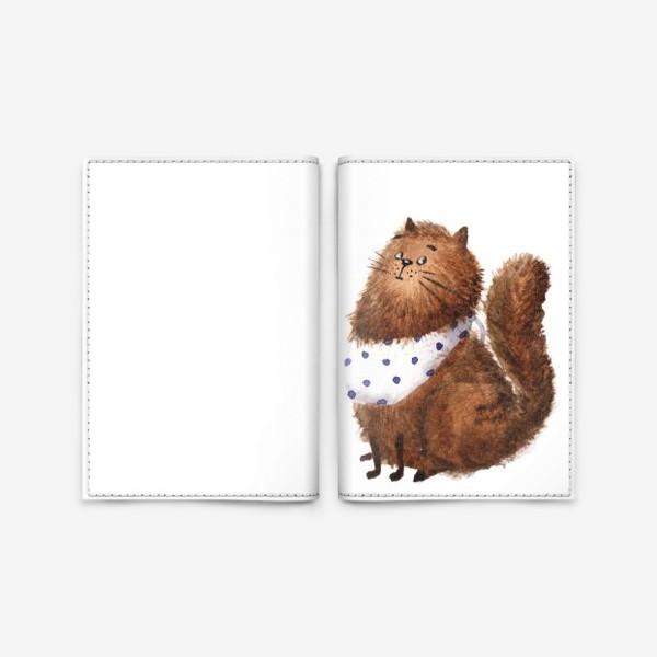 Обложка для паспорта «Удивленный кот»