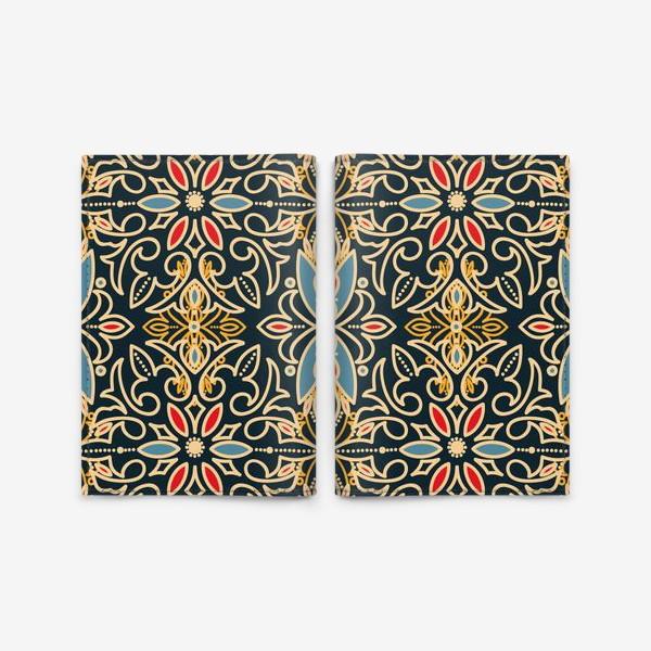 Обложка для паспорта «Черный с золотом паттерн»
