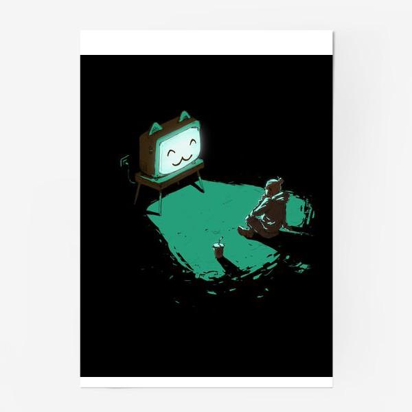 Постер «Кот-телевизор»