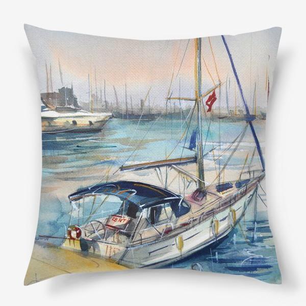 Подушка «Лодка в Кемере»