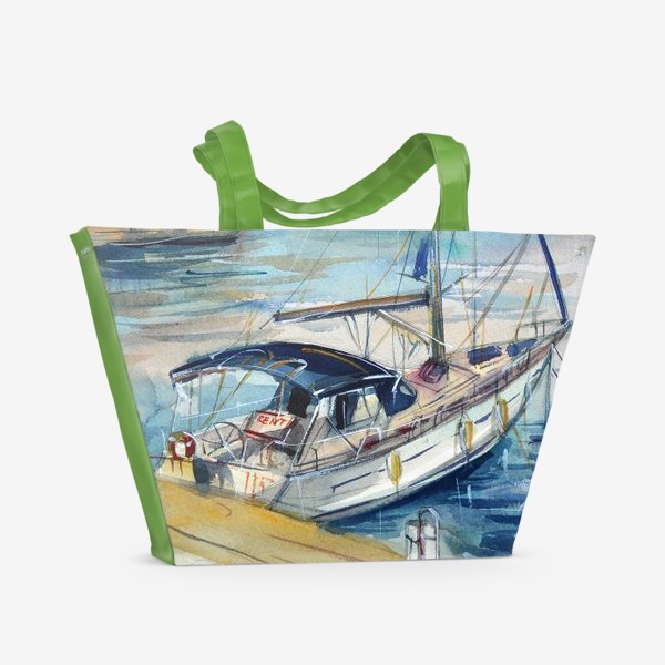 Пляжная сумка «Лодка в Кемере»
