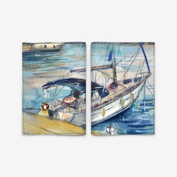Обложка для паспорта «Лодка в Кемере»