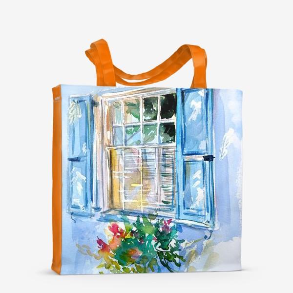 Сумка-шоппер «Окно со ставнями и цветами»