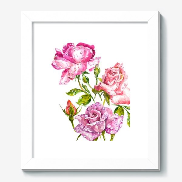 Картина «Watercolor roses»