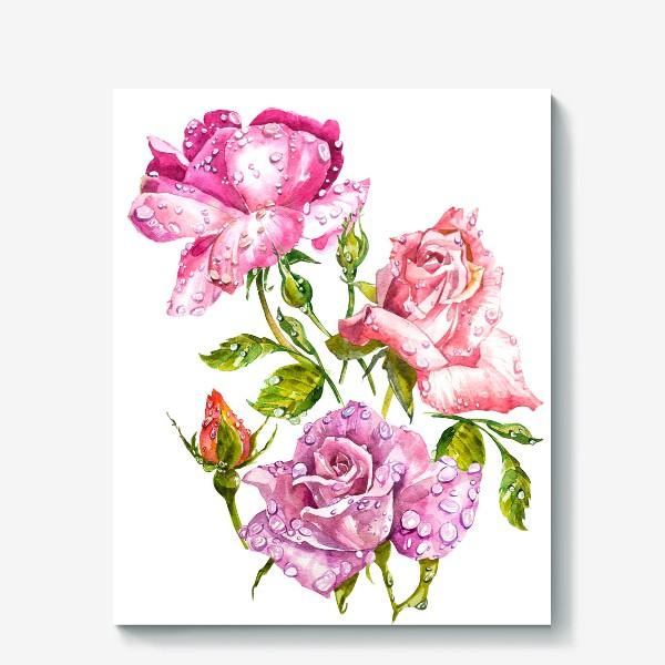 Холст «Watercolor roses»