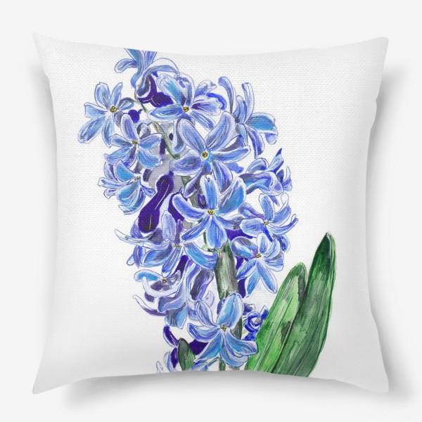 Подушка «Синий гиацинт»