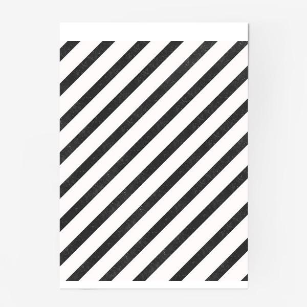 Постер «Черные диагонали гранж Black Collection»