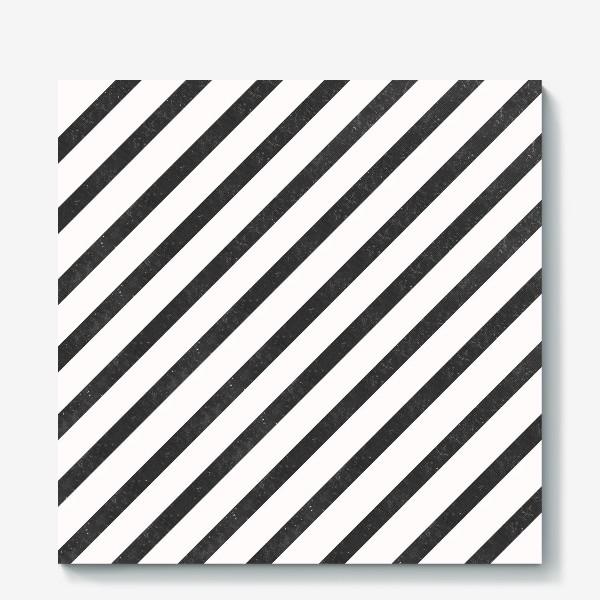 Холст «Черные диагонали гранж Black Collection»