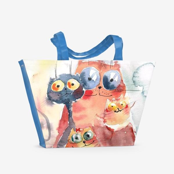 Пляжная сумка «Коты»