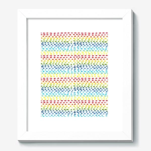 Картина «Акварельный разноцветный паттерн»