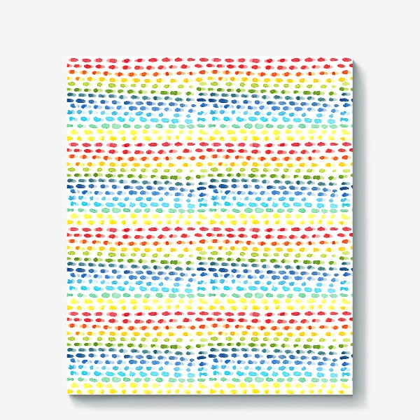 Холст «Акварельный разноцветный паттерн»