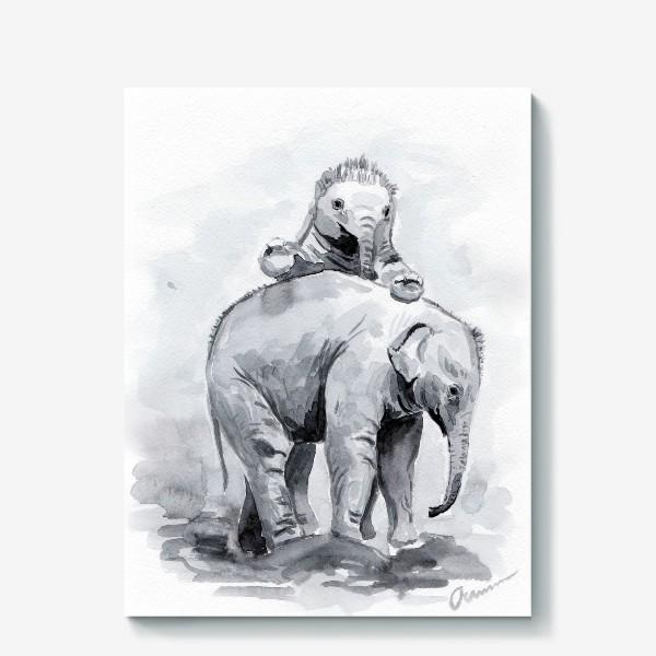 Холст «Слонята»