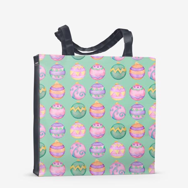 Сумка-шоппер «Новогодние шарики»