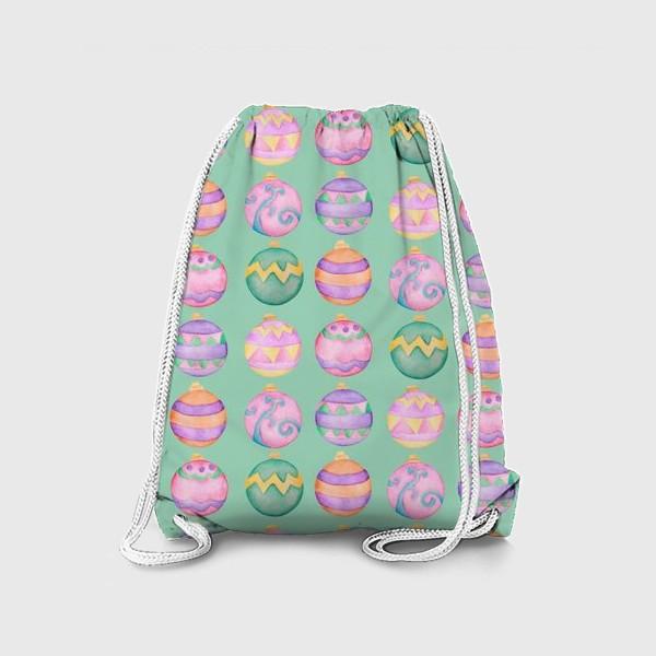 Рюкзак «Новогодние шарики»