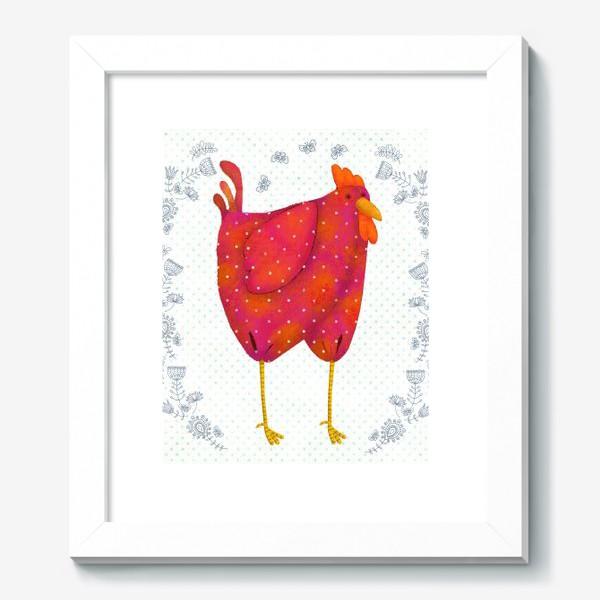 Картина «красный петух»