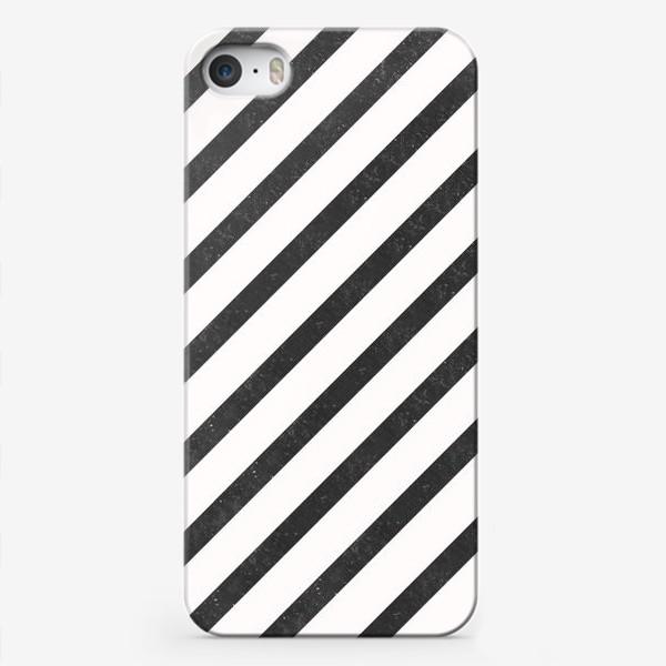 Чехол iPhone «Черные диагонали гранж Black Collection»