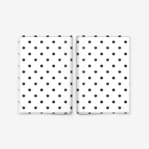 Обложка для паспорта «Паттерн в горошек гранж polka dot Black Collection»