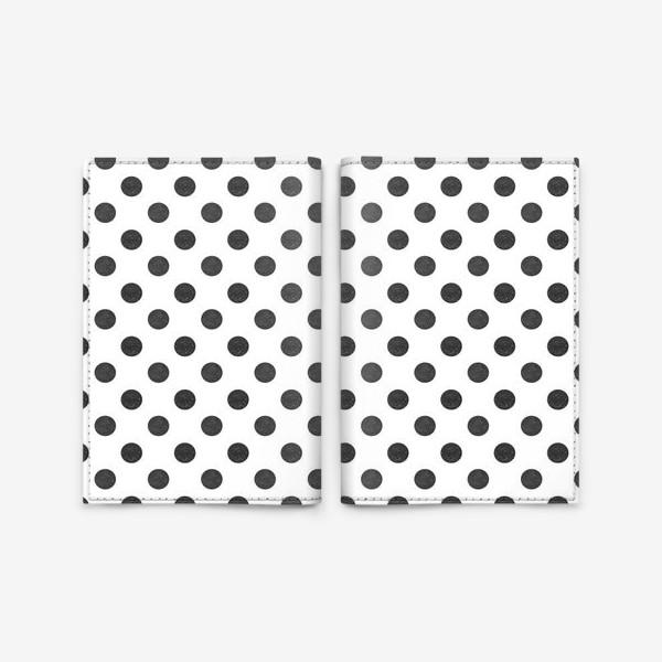 Обложка для паспорта «Паттерн в черный горошек grunge polka dot Black Collection»