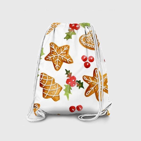 Рюкзак «Рождественские имбирные  пряники »