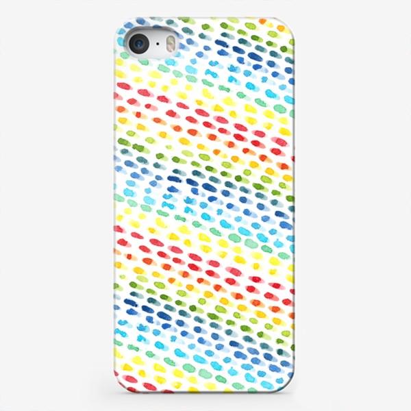 Чехол iPhone «Акварельный разноцветный паттерн»