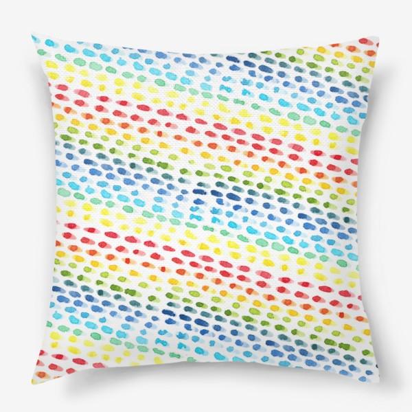 Подушка «Акварельный разноцветный паттерн»
