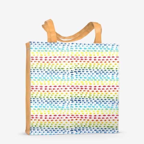 Сумка-шоппер «Акварельный разноцветный паттерн»