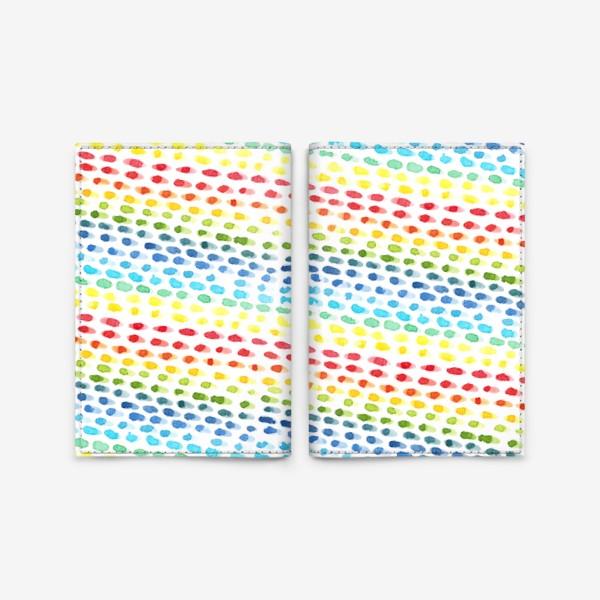 Обложка для паспорта «Акварельный разноцветный паттерн»