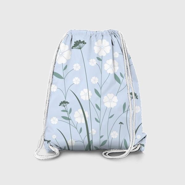 Рюкзак «Белые цветы»