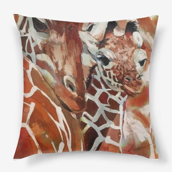 Подушка «Жирафы»