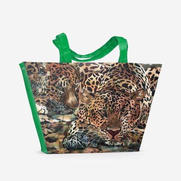 Пляжная сумка «Гепарды»