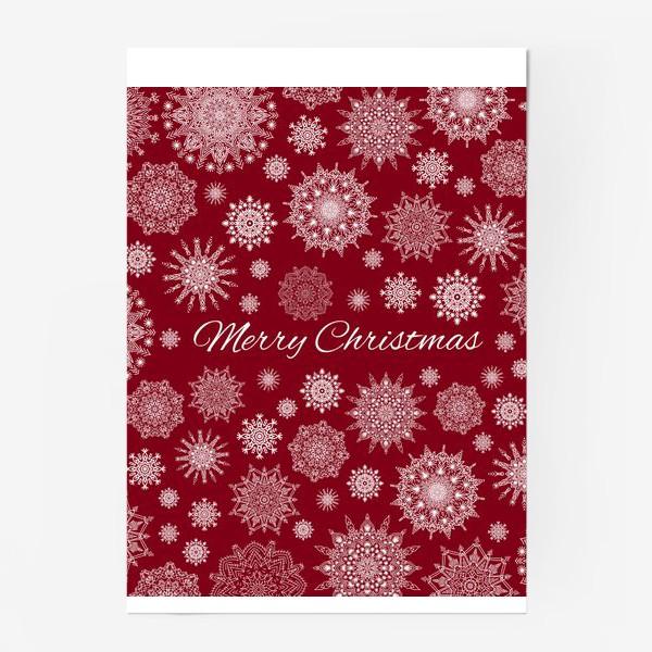 Постер «Снежный узор к Рождеству»