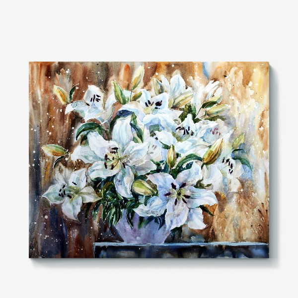 Холст «Белые лилии»