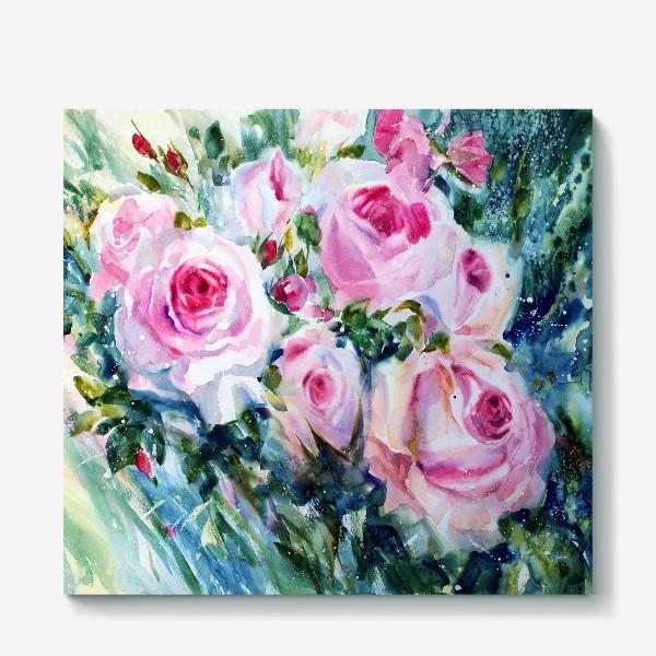 Холст «Розовые розы»