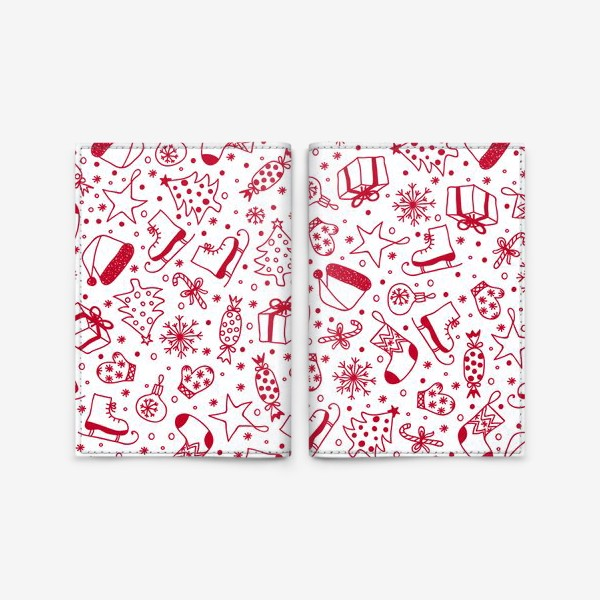 Обложка для паспорта «Рождественский паттерн»