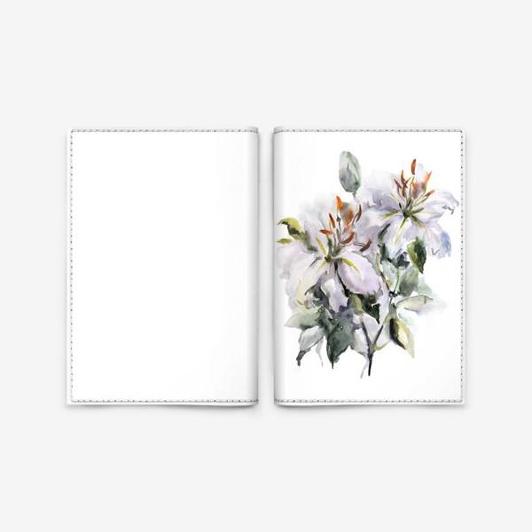 Обложка для паспорта «Букет Лилии»